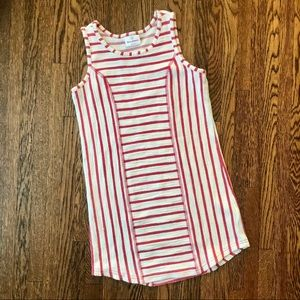 Hanna Andersson Striped Summer Dress Cream & Red